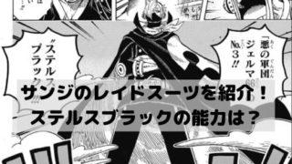 ワンピースサンジが使うレイドスーツのステルスブラックを画像で紹介!能力は強い?