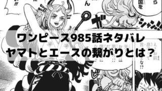 【ワンピース最新話ネタバレ速報985話】ヤマトとエースの繋がりとおでんの航海日誌の内容が明らかになる?