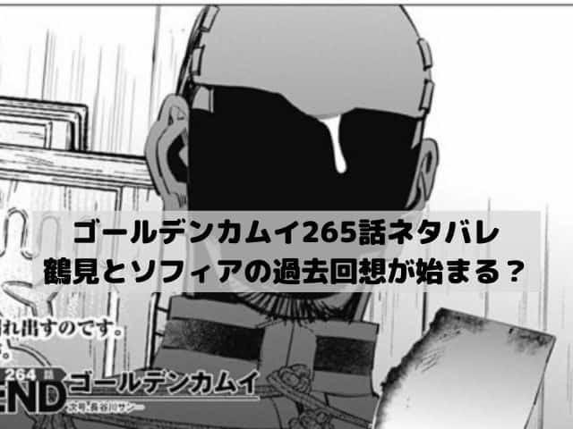 【ゴールデンカムイネタバレ最新話265話確定速報】人払いをした鶴見がソフィアと過去の話をする?