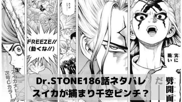 【ドクターストーンネタバレ最新話186話確定速報】スイカが捕まり千空ピンチ?