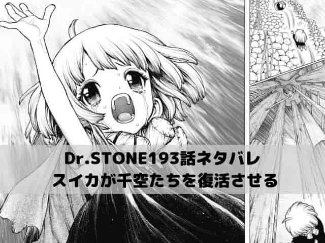 【ドクターストーンネタバレ最新話193話確定速報】スイカが千空たちを復活させる?
