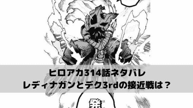 【ヒロアカネタバレ314話最新話確定速報】レディナガンとデク3rdの接近戦は?